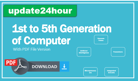Generation of Computer 1st to 5th PDF